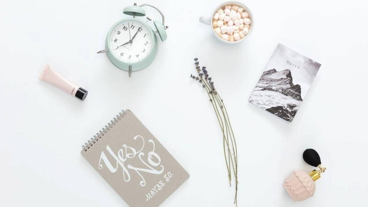 Pinterest Graphic with Title Manifesting Routines: Start a Morning Routine for Law of Attraction Success - selfmadeladies.com
